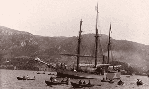 Fram leaves Bergen on 2 July 1893, bound for the Arctic Ocean.