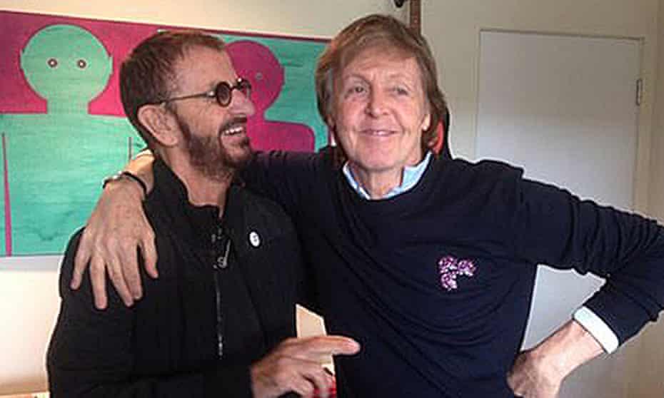 Ringo Starr and Paul McCartney in Ringo's studio
