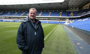 John Fennelly, Tottenham Hotspur historian pictured at White Hart Lane in April 2017.