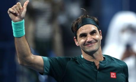 Roger Federer battles past Dan Evans on return from knee injury in Qatar
