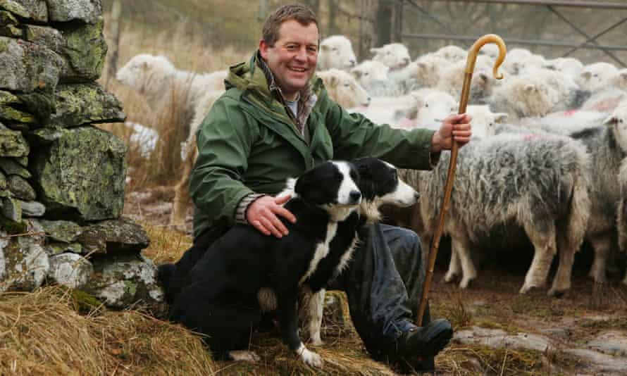 James Rebanks with his Herdwick sheep in Cumbria