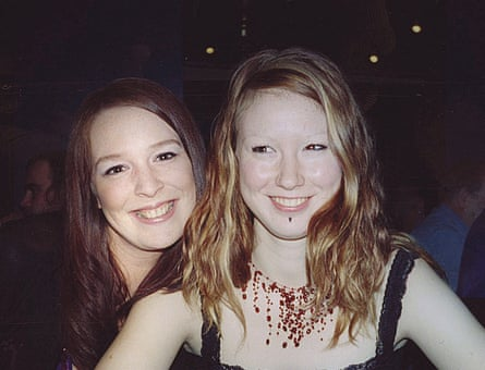 Martha Hayes aged 21 with her sister, Becky.