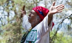 An elder at the Aniwa Gathering in Ibiza.