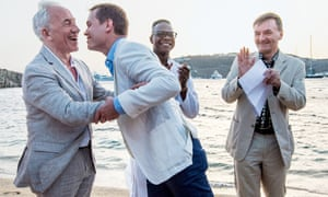 Kiss the groom: Simon Callow and his husband Sebastian Fox on their wedding day, Mykonos, June 2016.