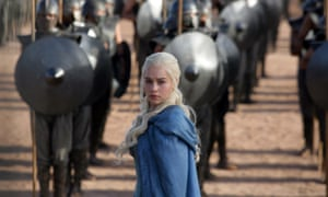 Game of Thrones character in blue cape
