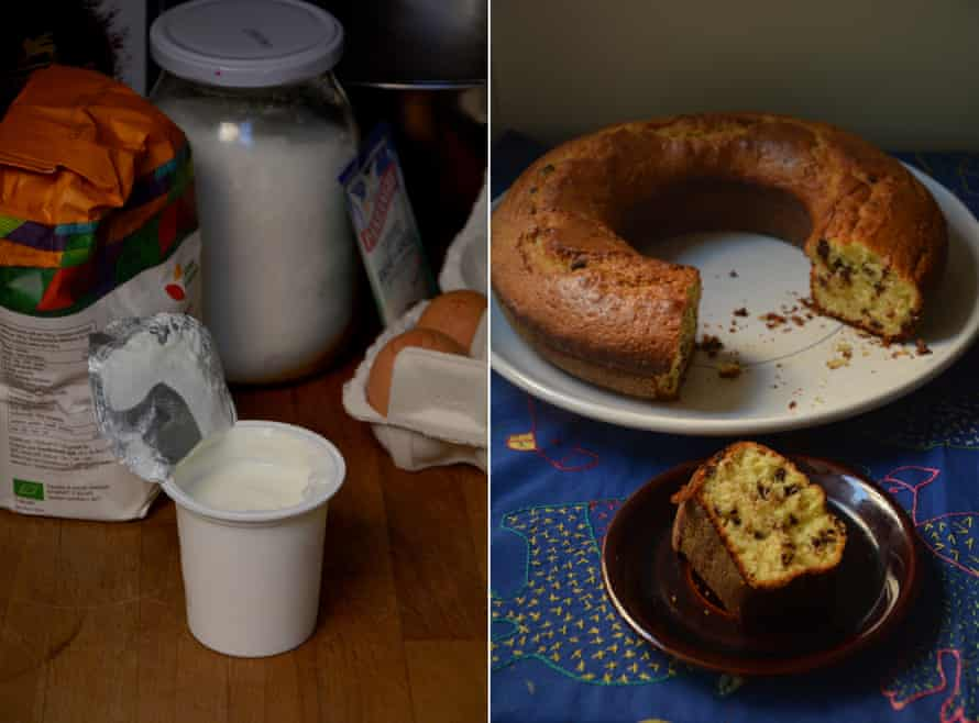Rachel Roddy's chocolate chip and yoghurt cake.