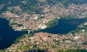 Calolziocorte in Lombardy, Italy.