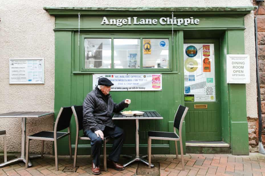 Angel Lane Chippie: 'There are few things nicer than ambling hungry into a sweet, vinegar-scented chip shop'.