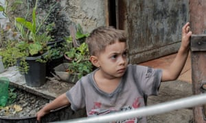 A child of the Turano favela