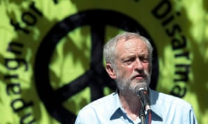 Jeremy Corbyn at a Campaign for Nuclear Disarmament event in August