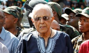 Ahmed Kathrada attends the ANC's centenary celebration in Bloemfontein, South Africa, in January 2012.