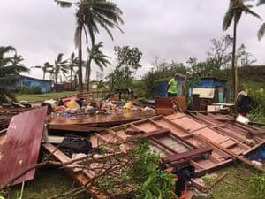 Scenes of Cyclone Winston's destruction in Ba, Fiji.