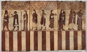 The 'Boccanera plaques', painted Etruscan plaques that show scenes from the Judgment of Paris, circa 560–550 BC.