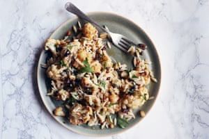 Orzo and roast cauliflower salad. Photographs by Rosie Birkett for  the Guardian.