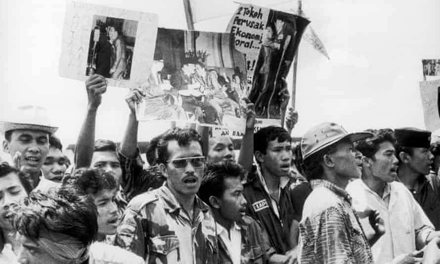 Students protest in 1966.