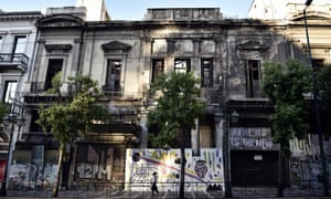 An abandoned neoclassical building in central Athens.
