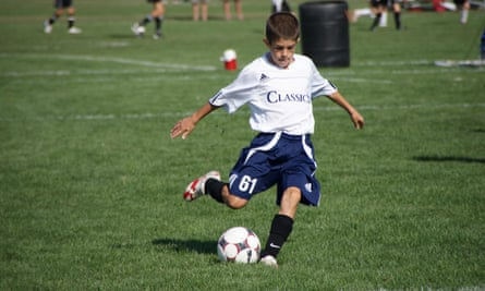 A nine-year-old Christian Pulisic playing for the PA Classics