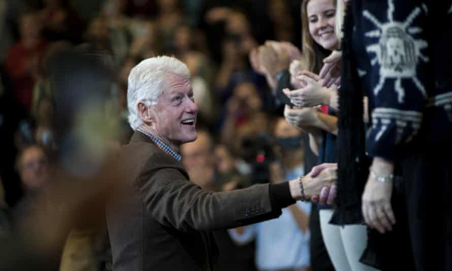 Bill Clinton campaigning in Nashua, New Hampshire.
