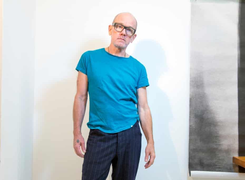 Michael Stipe in his studio