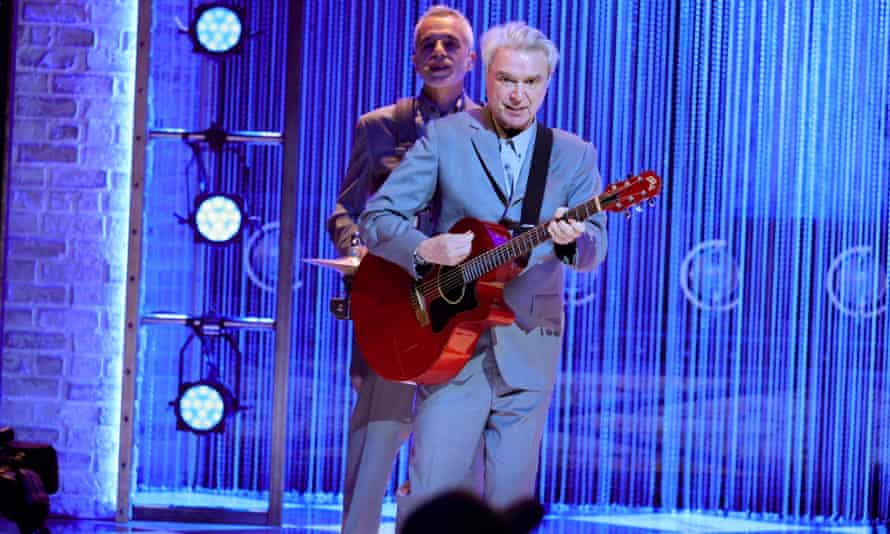 David Byrne performs a song from American Utopia