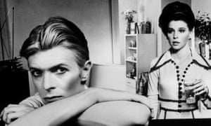 David Bowie and Candy Clark in The Man Who Fell to Earth.