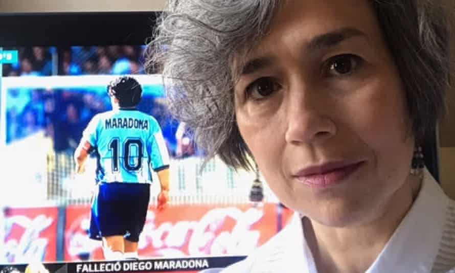Sonia Garcia says she was 'heartbroken' by Maradona's death, saying: 'We will miss him so much.'