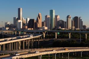 Road network in Houston, Texas.