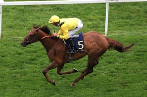 Addeybb ridden by Daniel Tudhope on his way to winning Wolferton Stakes.