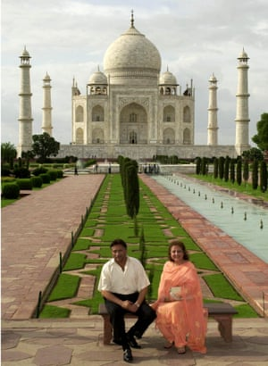 The then president of Pakistan, Pervez Musharraf, and his wife, Sehba, posing in July 2001