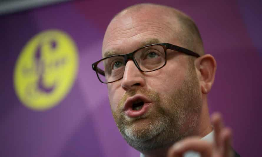 Paul Nuttall unveiling the party's immigration policy in London.