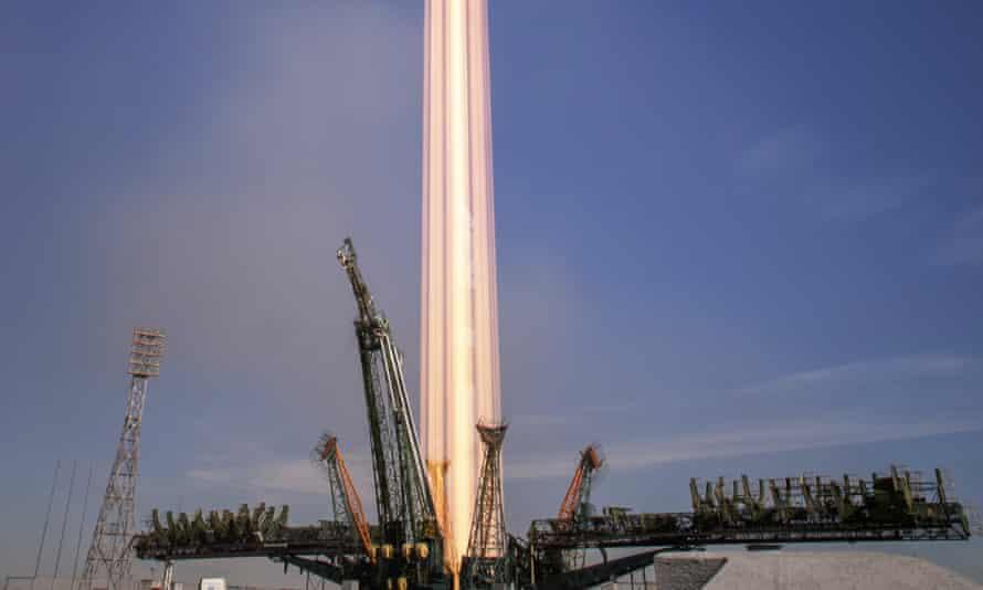 the Soyuz MS-10 spacecraft  launch