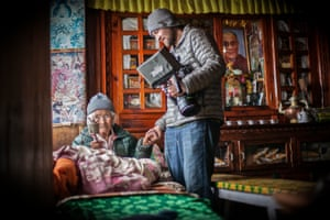 Film-maker Renan Ozturk (right) during the filming of Mountain.