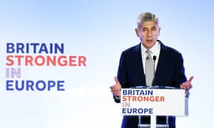 Stuart Rose launching the Britain Stronger in Europe campaign in London.