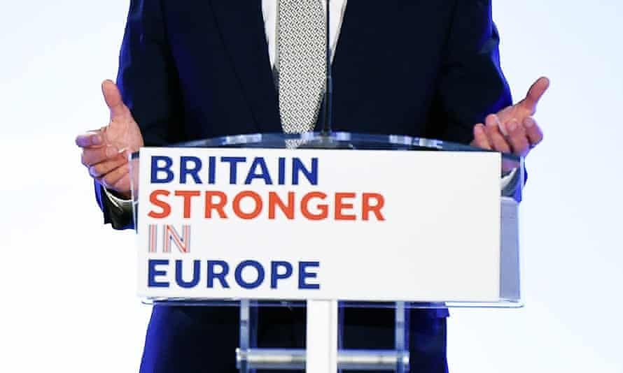 A 'Britain Stronger in Europe' campaign sign