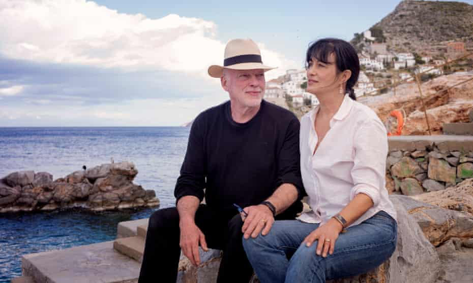 Polly Samson and husband David Gilmour on the Greek isalnd of Hydra.