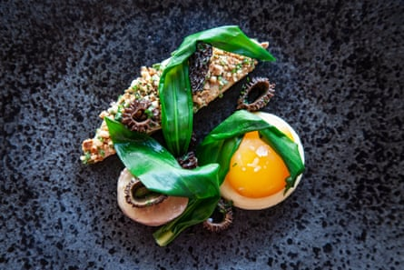 The Feathered Nest's faultless guinea fowl and confit egg yolk.
