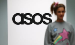 A model on an in-house catwalk at the Asos headquarters in London.