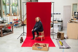 Rachel Whiteread in her London studio.