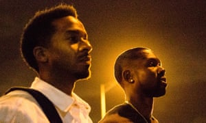 Andre Holland and Trevante Rhodes in Moonlight.