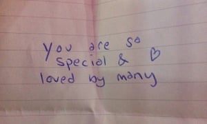The note given to Laura Darrell