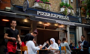 A Pizza Express restaurant in central London last September