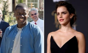 Rivals for best actor … Daniel Kaluuya for Get Out and Emma Watson for Beauty and the Beast.