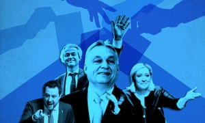 Support for Eurosceptic parties doubles in two decades across EU. From Left; Matteo Salvini, leader of the Italian Lega Nord party, Geert Wilders, leader of the Dutch PVV party, Hungarian Prime Minister Viktor Mihaly Orban, Marine Le Pen, leader of the French Front National.