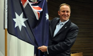This is actually an Australian flag, with John Key.