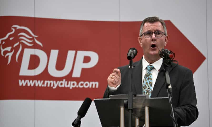 Sir Jeffrey Donaldson's party, the DUP, has slumped in the polls from 23% to 13%.
