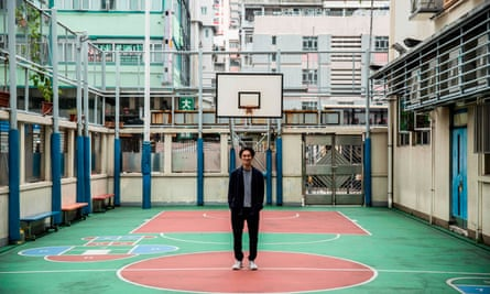Primary school teacher Billy Yeung is recording video lessons for his students who have had their classes suspended due to the coronavirus in Hong Kong