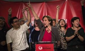 Mayor of Barcelona, Ada Colau, whose leftwing Barcelona en Comú is allied to the Catalonia Yes we Can (CSQEP) party.