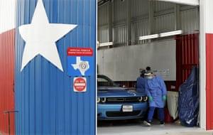 A coronavirus testing location in San Antonio.
