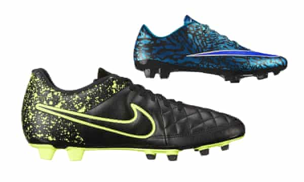 Nike's studs aimed at women have a starting price of £125. Its range aimed at men starts at £29.99 in the sale.
