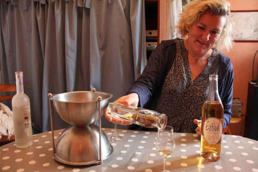 Sophie Blanchard pours some cognac